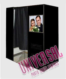 The open booth you can rent from Universal Photobooth Rentals.