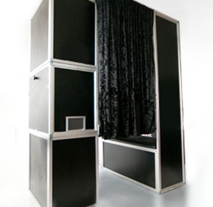 The enclosed booth you can rent from Magical Moments Photo Booths.