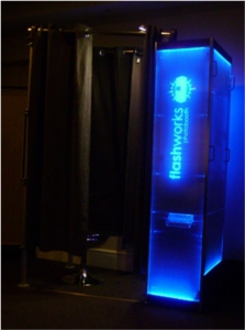 You can rent this photo booth from Flashworks Photobooth.