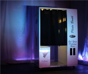 The video booth you can rent from Revolution Entertainment Inc.