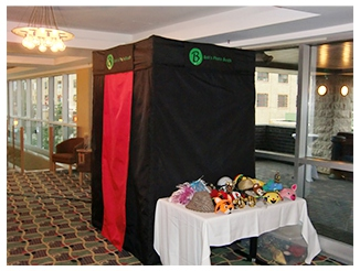 Bob's Photo Booth rents this booth for special occasions.