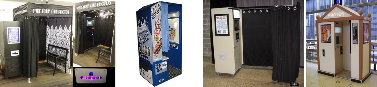 The enclosed booth you can rent from Photo Booth Rentals of Winnipeg.