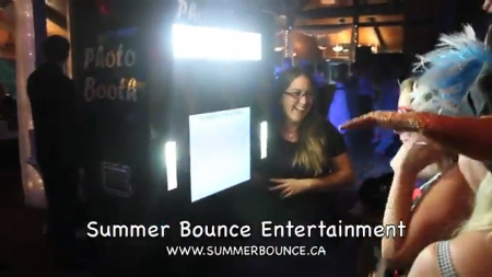 The open booth you can rent from Summer Bounce Entertainment.