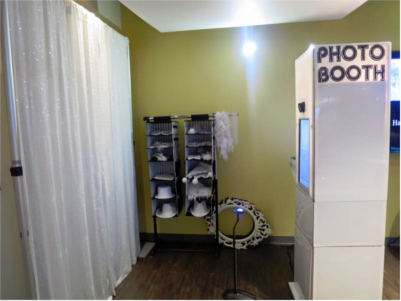 An open booth rental available from PictureX Photo Booth.